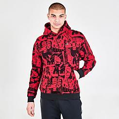Men's Jordan Essentials Allover Print Graphic Fleece Hoodie