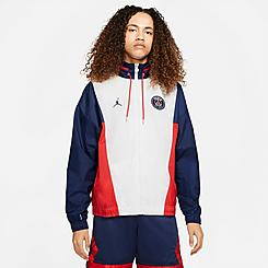 Men's Jordan Paris Saint-Germain Nylon Full-Zip Jacket