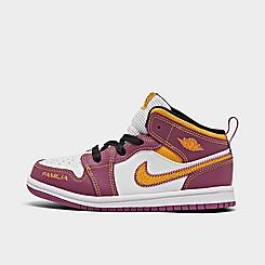 "Kids' Toddler Jordan 1 Mid ""Dia De Muertos"" Basketball Shoes"