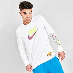 Men's Nike Sportswear Wash Drip Long-Sleeve T-Shirt