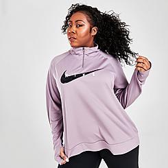 Women's Nike Swoosh Run Half-Zip Running Top (Plus Size)