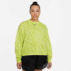Women's Nike Sportswear Icon Clash Animal Print Crewneck Sweatshirt (Plus Size)