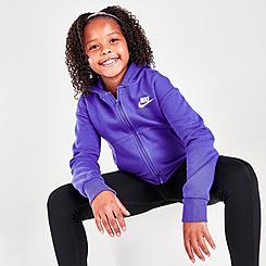 Girls' Nike Sportswear Club Fleece Full-Zip Hoodie