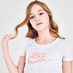 Girls' Nike Sportswear Zebra Infill Futura T-Shirt