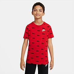 Boys' Nike AOP Script Print T-Shirt