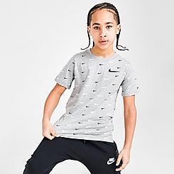 Boys' Nike Sportswear Allover Swoosh Print T-Shirt