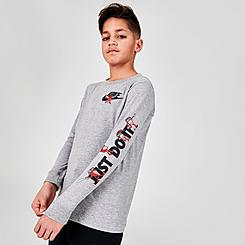 Boys' Nike Sportswear JDI Boxy Graphic Long-Sleeve T-Shirt