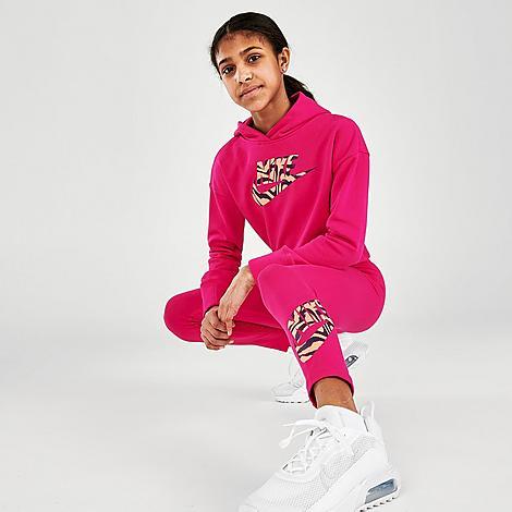 Nike NIKE GIRLS' SPORTSWEAR ZEBRA INFILL FAVORITES GRAPHIC LEGGINGS