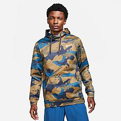 Men's Nike Therma-FIT Allover Camo Pullover Training Hoodie