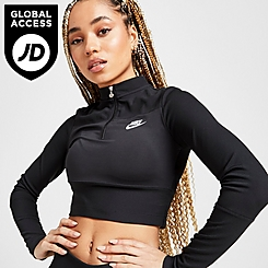 Women's Nike Sportswear Ribbed Half-Zip Long-Sleeve Top