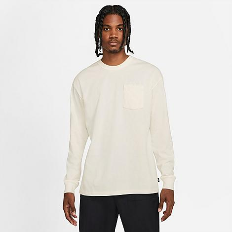Nike Men's Sportswear Max 90 Long-Sleeve T-Shirt in Off-White/Sail Size X-Large 100% Cotton Size & FitLoose fit is roomy and relaxed Long sleeves enhance coverage Product FeaturesStiff cotton construction for comfort Ribbed neckband and cuffs enhance durability Chest pocket with tonal Nike branding 100% cotton Machine wash The Nike Sportswear Max 90 Long-Sleeve T-Shirt is imported. Roomy and comfortable, the Men's Nike Sportswear Max 90 Long-Sleeve T-Shirt is a heavyweight champ just waiting to make an appearance in your wardrobe. Boasting a stiff cotton construction and minimalistic design, this long-sleeve is a must-have layering piece for your streetwear needs. Size: X-Large. Color: Off-White. Gender: male. Age Group: adult. Nike Men's Sportswear Max 90 Long-Sleeve T-Shirt in Off-White/Sail Size X-Large 100% Cotton