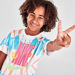 Kids' Nike Tie-Dye Striped T-Shirt