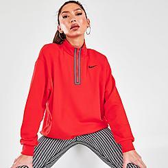 Women's Nike Sportswear Icon Clash Fleece Half-Zip Top