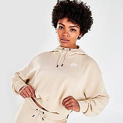 Women's Nike Sportswear Essential Zipper Cropped Fleece Hoodie