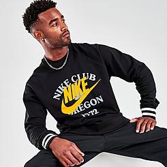 Men's Nike Sportswear Stacked Prints French Terry Crewneck Sweatshirt