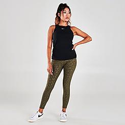 Women's Nike Pro Dri-FIT High-Waisted 7/8 Length Leopard Print Leggings