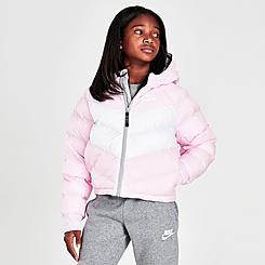 Girls' Nike Sportswear Chevron Puffer Jacket