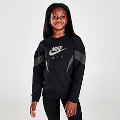 Girls' Nike Air Boyfriend Crewneck Sweatshirt