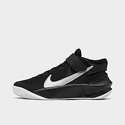 Big Kids' Nike Team Hustle D 10 FlyEase Basketball Shoes