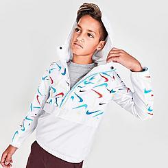 Boys' Nike Sportswear Woven Printed Anorak Jacket