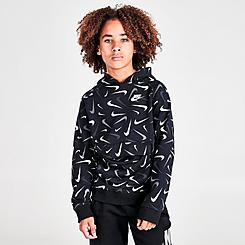 Boys' Nike Sportswear Club All Over Swoosh Pullover Hoodie
