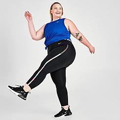Women's Nike One Rainbow Ladder Mid-Rise Cropped Leggings (Plus Size)