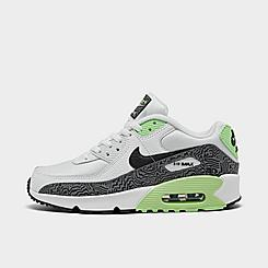 Big Kids' Nike Air Max 90 SE Print Casual Shoes