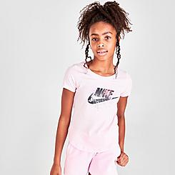 Girls' Nike Scoop Futura Splatter T-Shirt