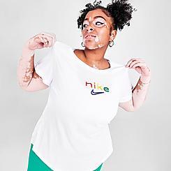 Women's Nike Dri-FIT Boxy Rainbow Training T-Shirt (Plus Size)