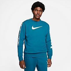 Men's Nike Sportswear Repeat Tape Fleece Crewneck Sweatshirt