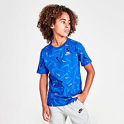 Boys' Nike Allover Print Swooshfetti T-Shirt
