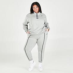 Women's Nike Sportswear Icon Clash Easy Fleece Mid-Rise Joggers (Plus Size)