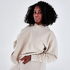 Women's Nike Sportswear Essential Collection Acid Washed Fleece Hoodie (Plus Size)