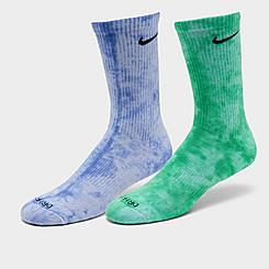 Nike Everyday Plus Cushioned Tie-Dye Crew Socks (2-Pack)