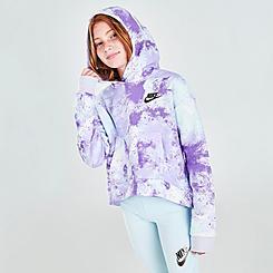 Girls' Nike Sportswear Club Wild Run Pullover Hoodie