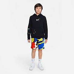 Boys' Nike Sportswear Splatter Club Shorts