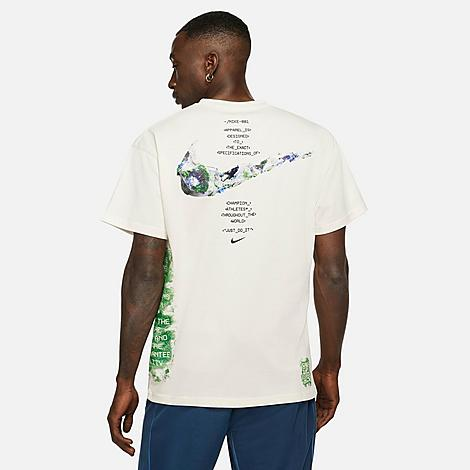 Nike Men's Sportswear Air Max 90 T-Shirt in Off-White/Sail Size Large 100% Cotton Size & FitLoose fit is oversized and roomy Product FeaturesSoft and lightweight cotton construction for maximum comfort Futuristic botanical graphics across the front and back define your look 100% cotton Machine wash The Nike Sportswear Air Max 90 T-Shirt is imported. Take your fashion game to the future with the Men's Nike Sportswear Air Max 90 T-Shirt. Ultramodern graphics with classic Nike branding adorn this tee for a look that's ahead of its time. Size: Large. Color: Off-White. Gender: male. Age Group: adult. Nike Men's Sportswear Air Max 90 T-Shirt in Off-White/Sail Size Large 100% Cotton