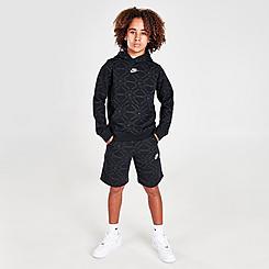 Boys' Nike Sportswear Allover Print Fleece Shorts