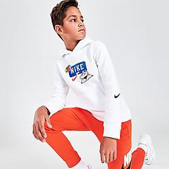 Boys' Nike Sportswear Club Jumpball Stickers Pullover Hoodie