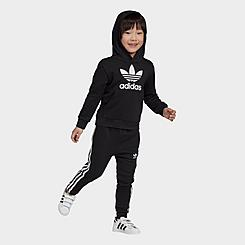 Toddler and Little Kids' adidas Originals Trefoil Pullover Hoodie and Jogger Pants Set