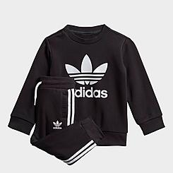 Infant and Kids' Toddler adidas Originals Crew Sweatshirt and Jogger Pants Set
