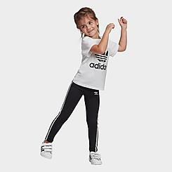 Girls' Toddler and Little Kids' adidas Originals 3-Stripes Leggings
