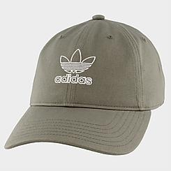 Women's adidas Originals Outline Relaxed Precurved Strapback Hat