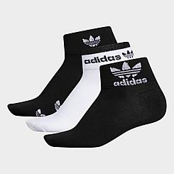Women's adidas Originals 3-Pack Trefoil Shine Low Cut Socks