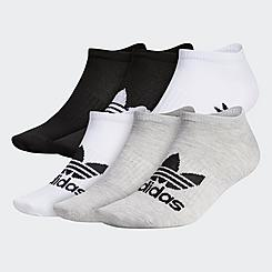adidas Trefoil Cushioned 6 Pack No-Show Socks