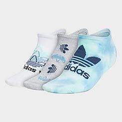 Women's adidas Originals 3-Pack Colorwash No-Show Socks