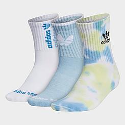 Women's adidas Originals Colorwash Quarter Socks (3-Pack)