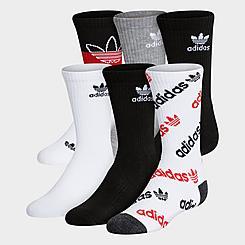Kids' adidas Originals Mixed Print Crew Socks (6-Pack)