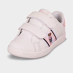 Girls' Toddler Polo Ralph Lauren Oaklynn Bear Faux-Leather Casual Shoes