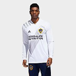 Men's adidas Los Angeles Galaxy Home Long-Sleeve Soccer Jersey